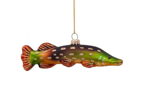 Green pike fish - ornament