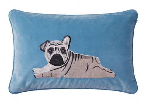 Puppy - blue velour - 40x60