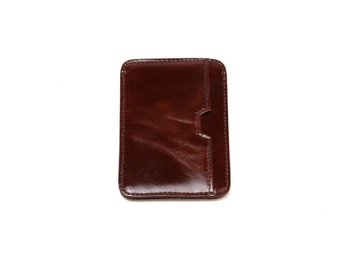 Dakota Credit Card Holder-Brown Wallets - Vicenzo Leather - Designer
