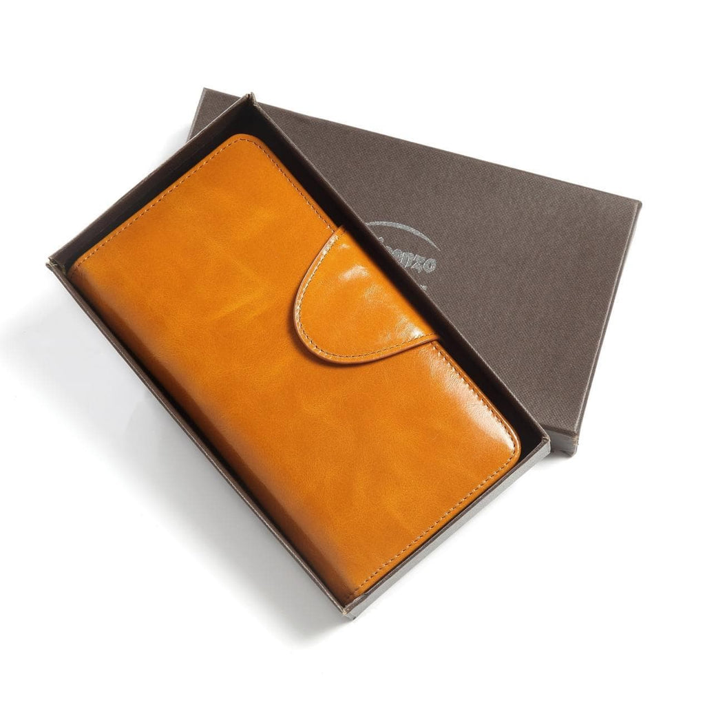 Romia Distressed Leather Compact Wallet - Tan Wallets - Vicenzo Leather - Designer
