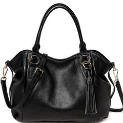Adona Leather Handbag - Black