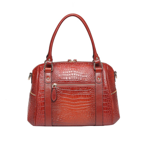 Lane Croc Leather Handbag Handbags - Vicenzo Leather - Designer