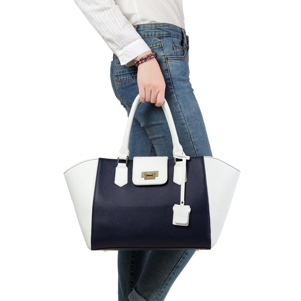 Peace Leather Tote Handbag Handbags - Vicenzo Leather - Designer