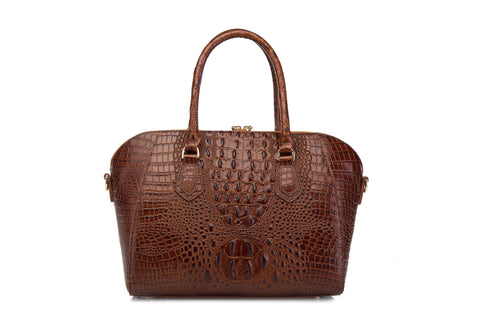 Dania Croc Leather Handbag Handbags - Vicenzo Leather - Designer