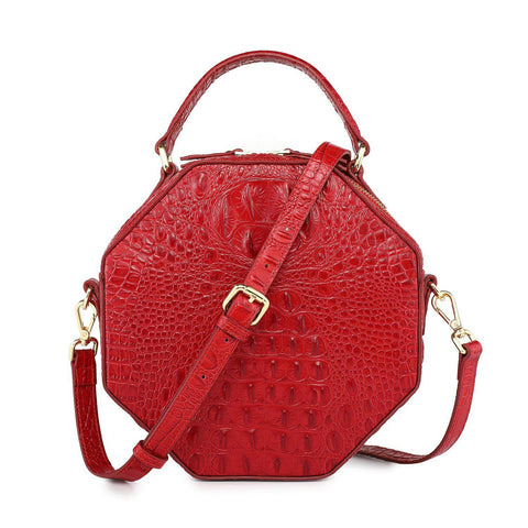 Shelley Croc Leather Crossbody Handbag