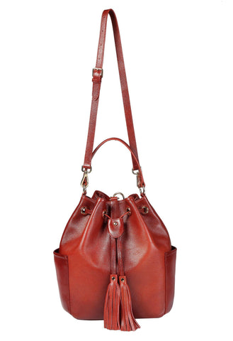 Chalise Leather Bucket Bag Backpack Handbags - Vicenzo Leather - Designer