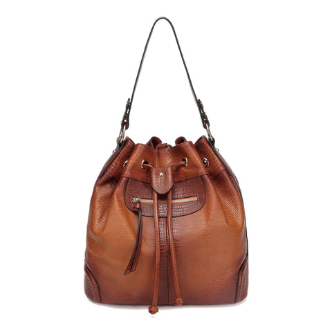 Analia Leather Bucket bag Backpack Backpack - Vicenzo Leather - Designer