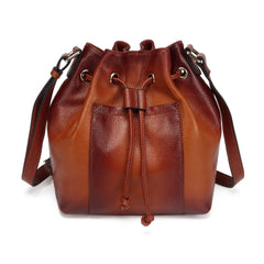 Donnie Leather Bucket Bag