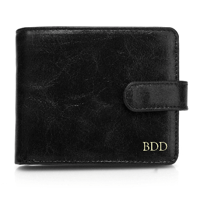 Pelotas Distressed Leather Trifold Mens Wallet with Snap Closure - Black Brown PPLR_HIDDEN_PRODUCT - Vicenzo Leather - Designer