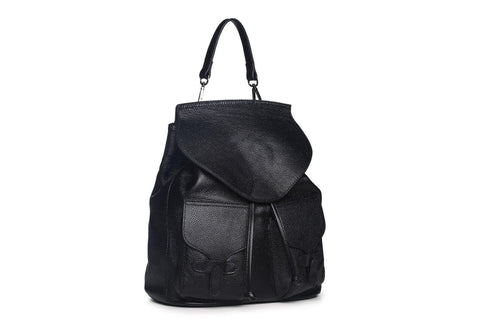 Pixie Leather Backpack - Black Backpack - Vicenzo Leather - Designer