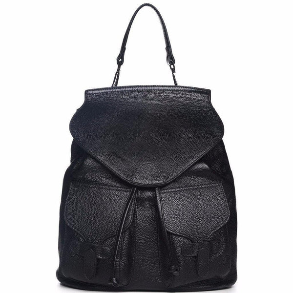 Pixie Leather Backpack - Black Handbags - Vicenzo Leather