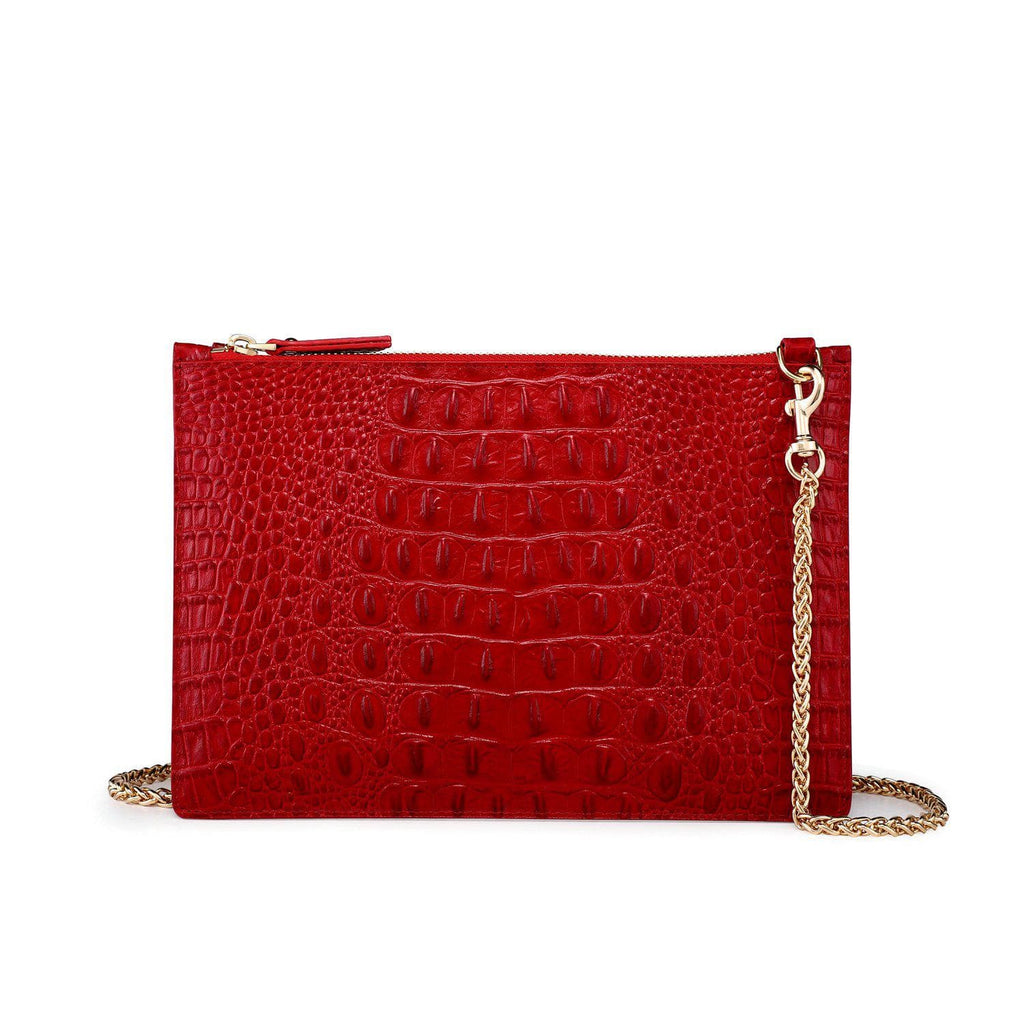 Hope Croc Embossed Crossbody Clutch crossbody bag - Vicenzo Leather - Designer