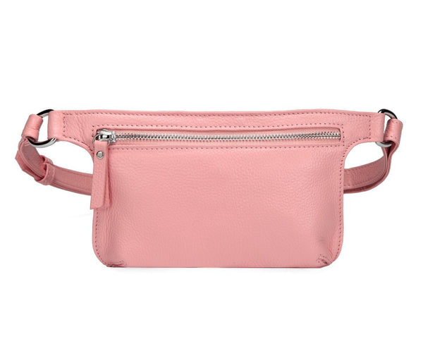Arlette Leather Waistbag/ Belt Bag - Pink