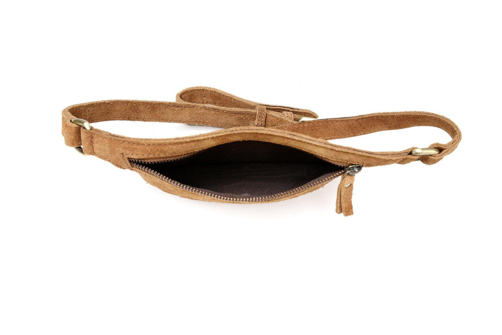 Karla Suede Leather Waistbag Waistpack - Vicenzo Leather - Designer