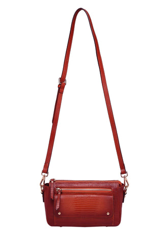 Dara Textured Leather Crossbody Bag crossbody bag - Vicenzo Leather - Designer