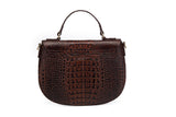 Lyana Croc Embossed Leather Crossbody Bag crossbody bag - Vicenzo Leather - Designer