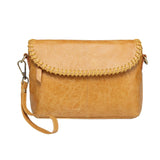 Eloise Distressed Leather Crossbody/Clutch