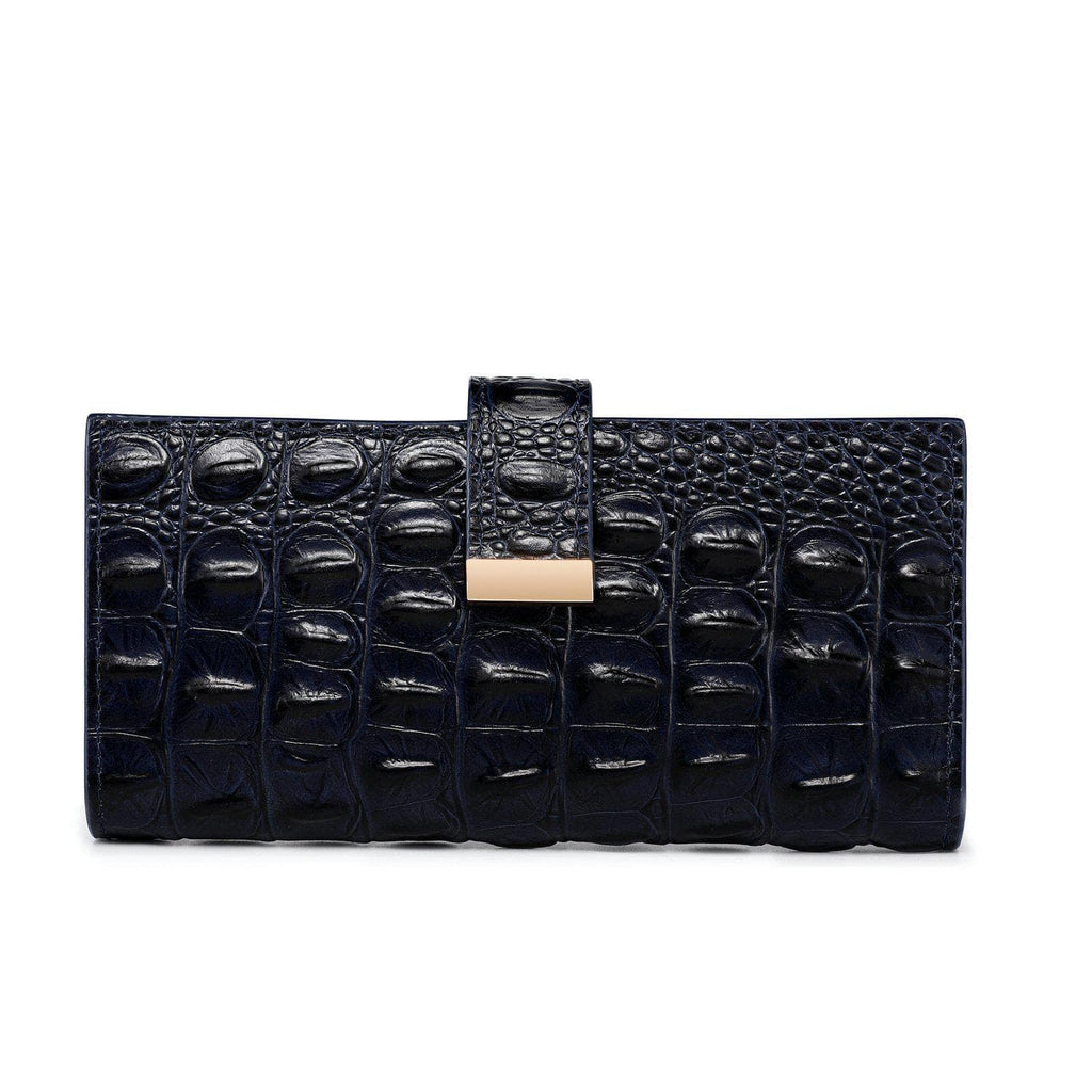 Sasha Croc Leather Wallet Wallets - Vicenzo Leather - Designer