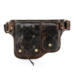 Yvette Leather  Leather Waist Purse Fanny Pack (Y-Brown) waist pack - Vicenzo Leather