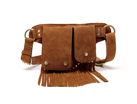 Floretta Suede Leather Fringe Waistpack Waistpack - Vicenzo Leather - Designer