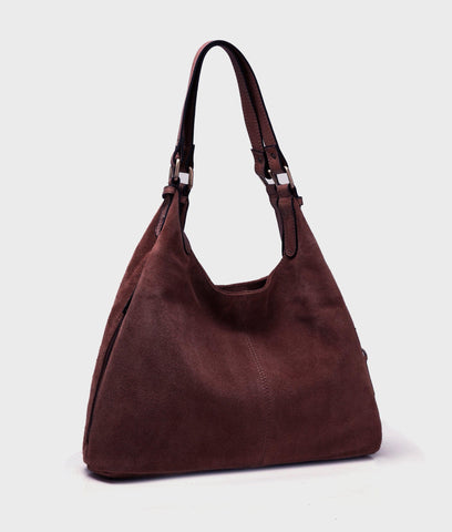 Roslyn Suede Leather Handbag Handbags - Vicenzo Leather - Designer