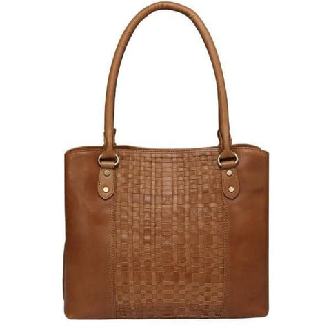 Helen Vintage Leather Handbag- Light Brown Handbags - Vicenzo Leather - Designer