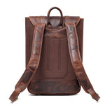 Gianna Waxed Canvas Leather Backpack Tech Accessories - Vicenzo Leather - Designer