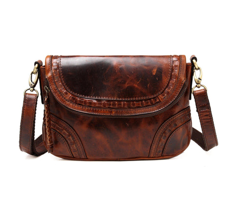 Brie Leather Crossbody Handbag Handbags - Vicenzo Leather - Designer