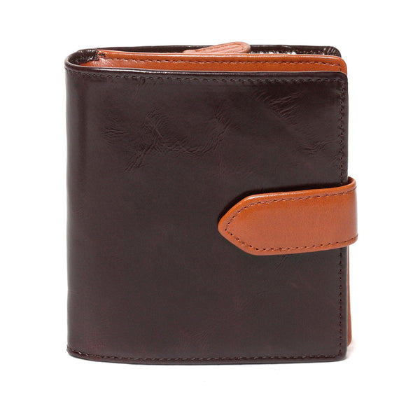 Vicenzo Leather Dierdra Compact Leather Wallet - Brown - Monogram