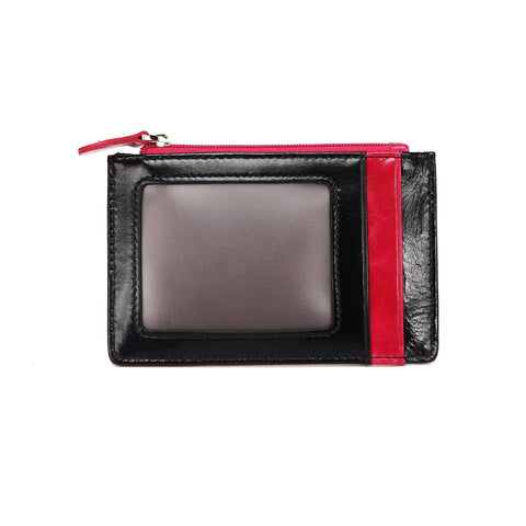 Lia Leather Credit Card Holder- BlackPink Wallets - Vicenzo Leather - Designer
