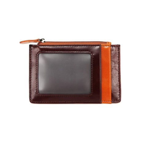 Lia Leather Credit Card Holder- Dark Brown Wallets - Vicenzo Leather - Designer