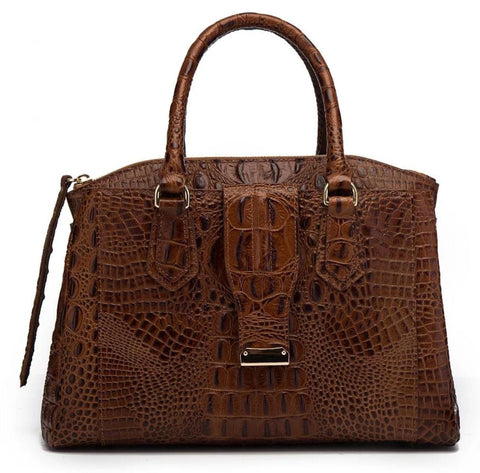 Olivia Croc Leather handbag Handbags - Vicenzo Leather - Designer