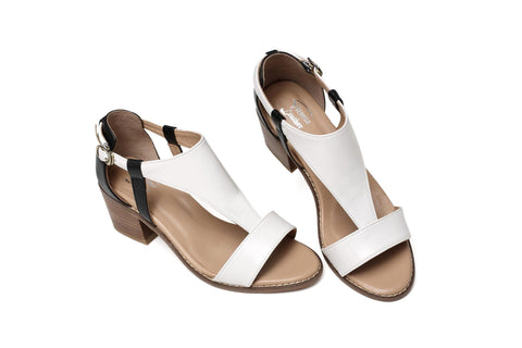 Earlene Low Heel Women Leather Sandal Women Shoes - Vicenzo Leather - Designer