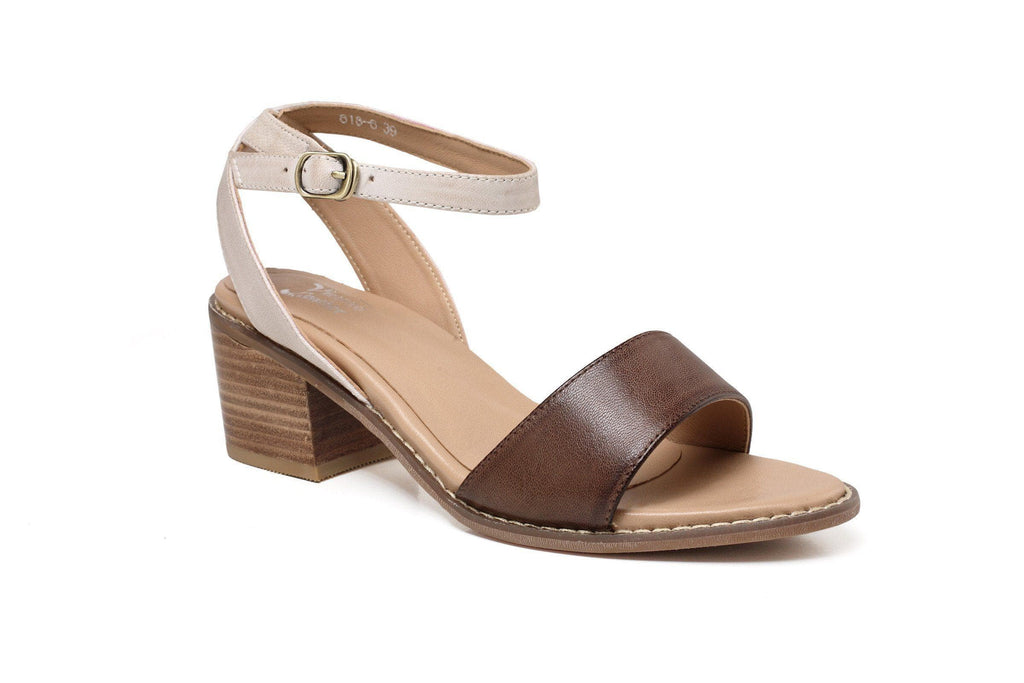 Rae Chunky Heel Women Leather Sandal Women Shoes - Vicenzo Leather - Designer