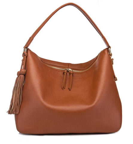 Serena Hobo Leather Bag Handbags - Vicenzo Leather - Designer