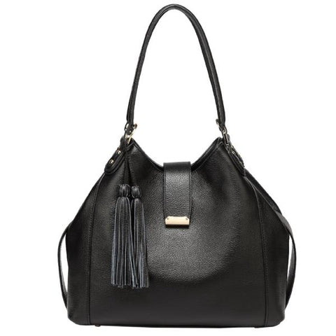 Ines Leather Top Handle Handbag Handbags - Vicenzo Leather - Designer