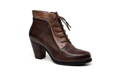 Leonie Low Heel Leather Boots