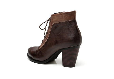 Leonie Low Heel Leather Boots Women Shoes - Vicenzo Leather - Designer