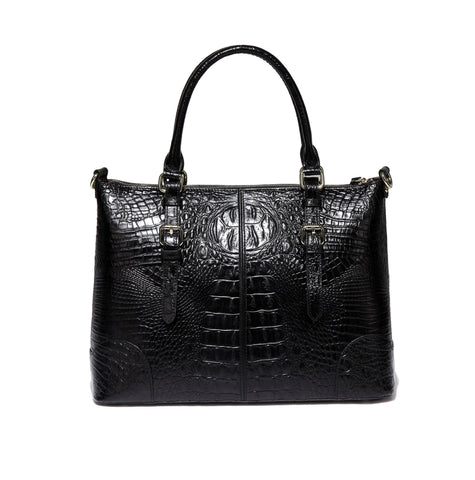 Marvee Croc Embossed Leather Handbag Handbags - Vicenzo Leather - Designer