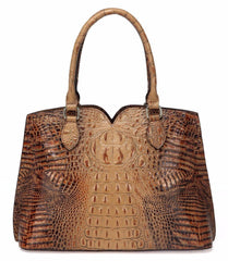 Maya Croc Embossed Leather Tote Handbag