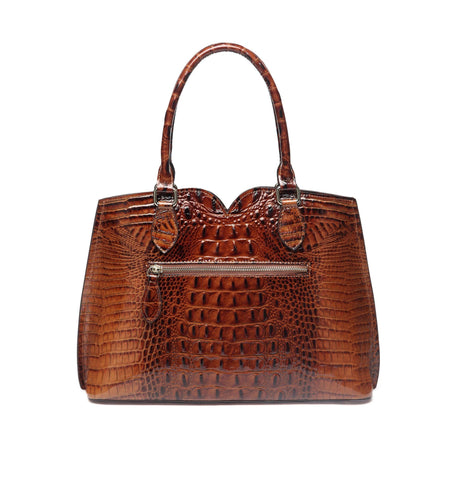 Maya Croc Embossed Leather Tote Handbag Handbags - Vicenzo Leather - Designer