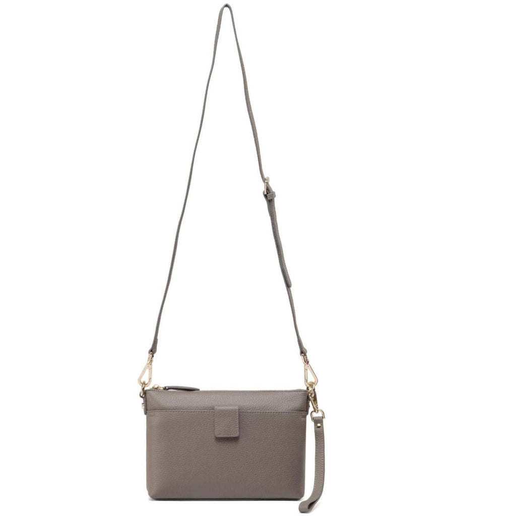 Lena  Leather Crossbody Bag - Grey crossbody bag - Vicenzo Leather - Designer