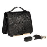 Inaya Croc Embossed Leather Crossbody Bag crossbody bag - Vicenzo Leather - Designer