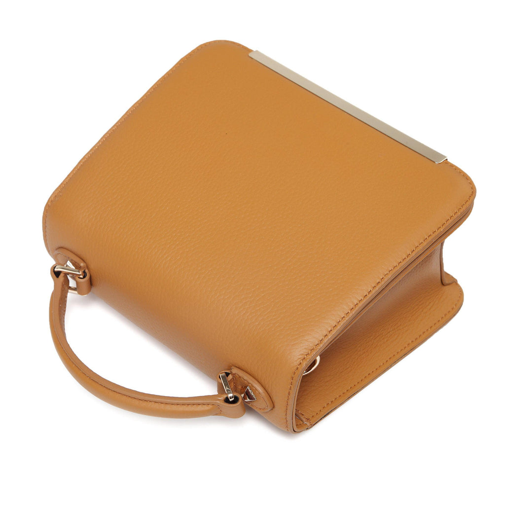 Inaya Leather Crossbody Bag - Tan crossbody bag - Vicenzo Leather - Designer