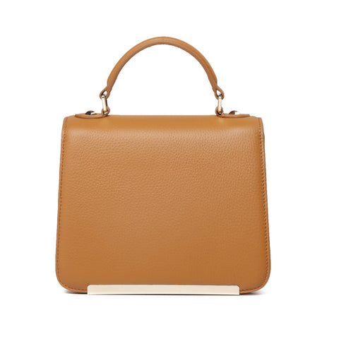 Inaya Leather Crossbody Handbag - Tan crossbody bag - Vicenzo Leather - Designer