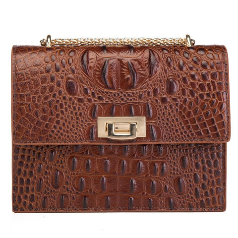 Tauren Croc Embossed Leather Crossbody/Handbag crossbody bag - Vicenzo Leather - Designer