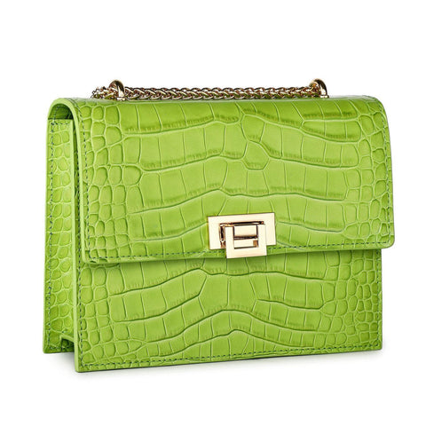 Tauren Croc Embossed Leather Crossbody/Handbag