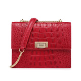 Tauren Croc Embossed Leather Crossbody Bag