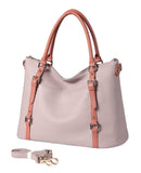 Stefani Shoulder leather handbag - PalePink Handbags - Vicenzo Leather - Designer