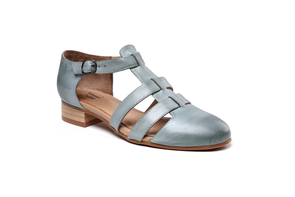 Laure Flat  Women Leather Sandals Women Shoes - Vicenzo Leather - Designer